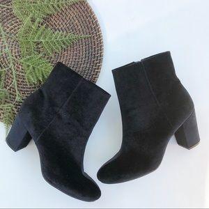 Christian Siriano | Booties Black Velvet Heels 13